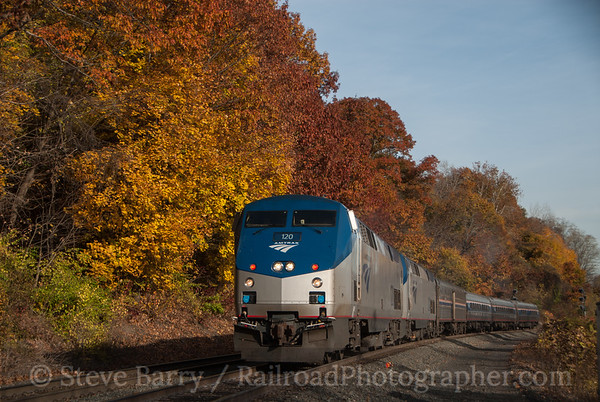 Photo 3257 Amtrak; West Springfield, Massachusetts November 10, 2014