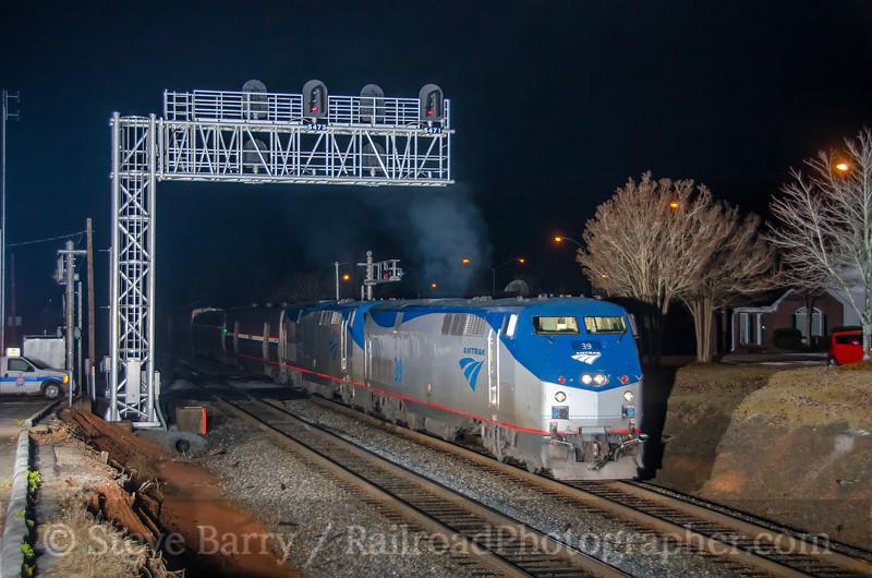 Photo 4009<br /> Amtrak; Toccoa, Georgia<br /> December 6, 2016