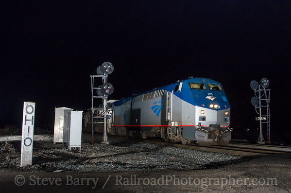 Photo 3366 Amtrak; Edgerton, Ohio April 9, 2015