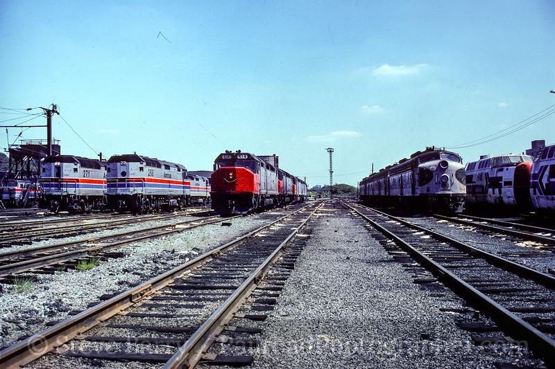 Photo 5463<br /> Amtrak<br /> Ivy City Engine Terminal, Washington, D.C.<br /> September 1978