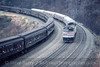 Photo 5378<br /> Amtrak<br /> Horseshoe Curve, Altoona, Pennsylvania<br /> November 1987