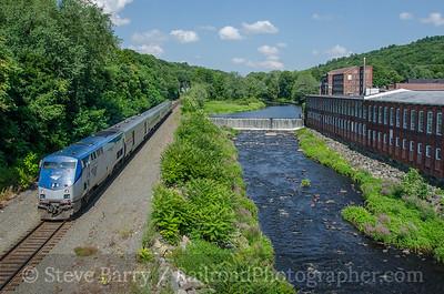 Photo 3433 Amtrak; West Warren, Massachusetts July 20, 2015