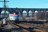 Photo 4492<br /> Amtrak<br /> High Bridge, Bronx, New York<br /> April 1991