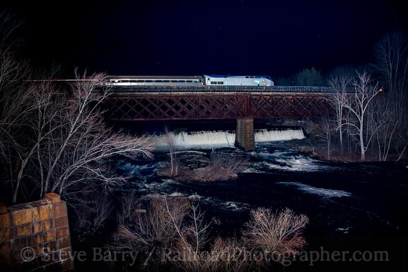 Photo 4643<br /> Amtrak<br /> South Berwick, Maine<br /> April 20, 2018