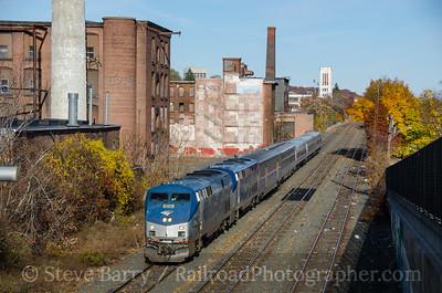 Photo 3997 Amtrak; Worcester, Massachusetts November 12, 2016