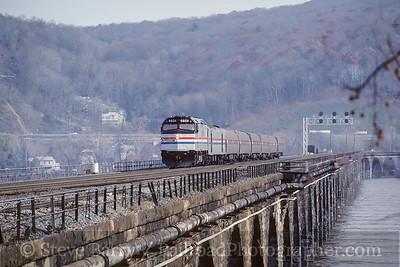 Photo 3940 Amtrak; Rockville Bridge, Marysville, Pennsylvania December 1986