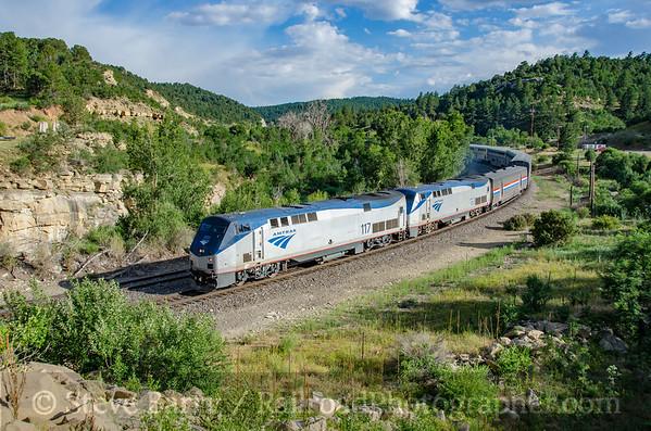 Photo 3888 Amtrak; Gallinas, Colorado July 17, 2016