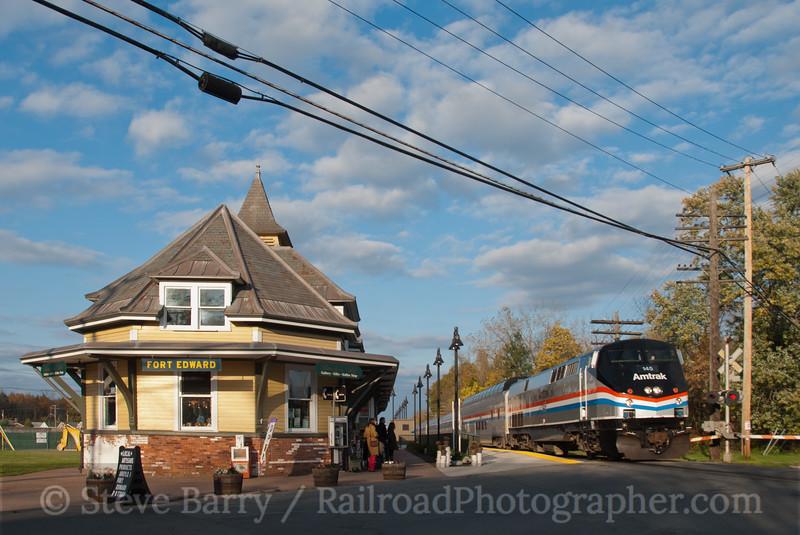 Photo 2262<br /> Amtrak; Fort Edward, New York<br /> October 23, 2011