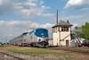 Photo 1858<br /> Amtrak; Ridgely Tower, Springfield, Illinois<br /> April 27, 2010