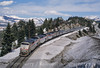 Photo 4164<br /> Amtrak; Emigrant Gap, California<br /> March 2000