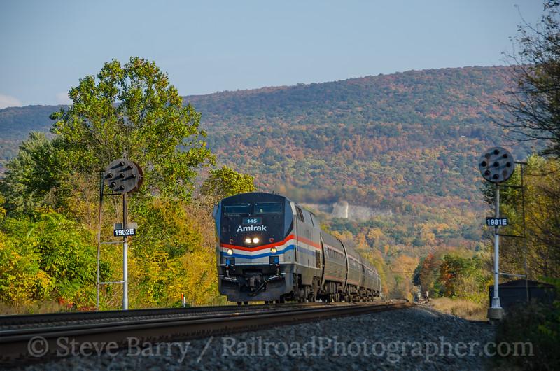 Photo 3984<br /> Amtrak; Mill Creek, Pennsylvania<br /> October 19, 2016