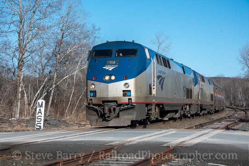 Photo 4651<br /> Amtrak<br /> West Stockbridge, Massachusetts<br /> April 22, 2018