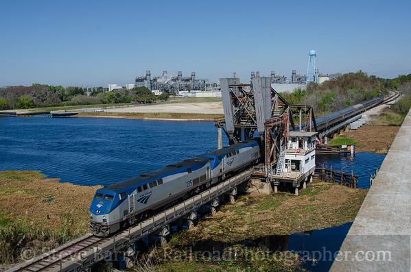 Photo 3307 Amtrak; Lake Monroe, Sanford, Florida February 13, 2015