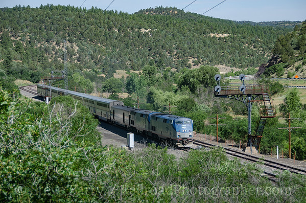 Photo 3891 Amtrak; Gallinas, Colorado July 17, 2016