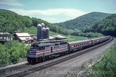 Photo 5038<br /> Amtrak<br /> Spruce Creek, Pennsylvania<br /> May 1993