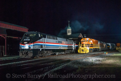 Photo 3207 Amtrak and New England Central; White River Junction, Vermont September 12, 2014