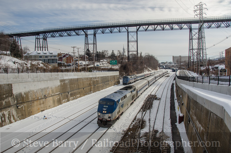 Photo 3068<br /> Amtrak; Poughkeepsie, New York<br /> February 8, 2014
