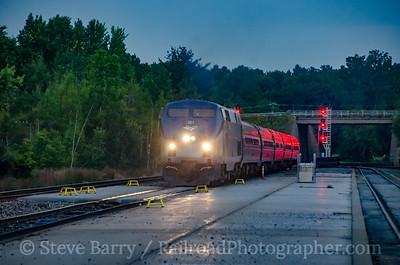 Photo 3923 Amtrak; Saratoga Springs, New York September 8, 2016