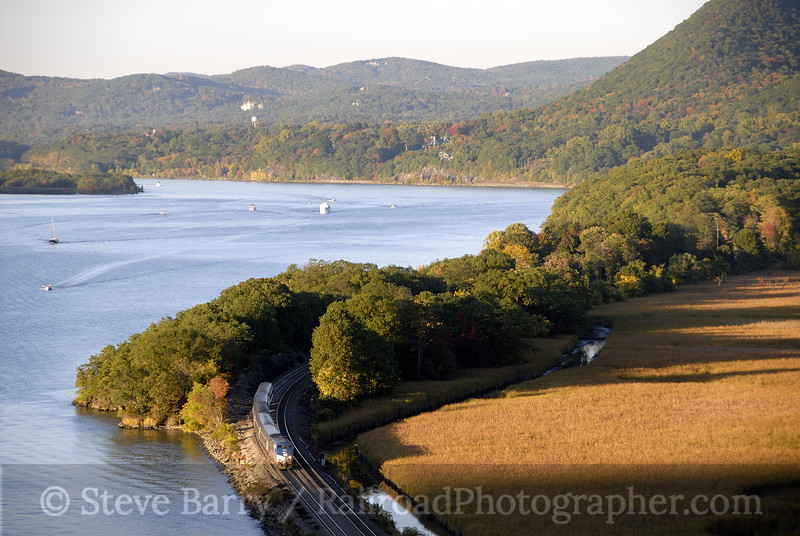 Photo 1358<br /> Amtrak; Anthony's Nose, Manitou, New York<br /> October 11, 2008