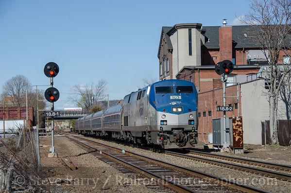 Photo 3378 Amtrak; Meriden, Connecticut April 25, 2015