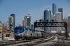 Photo 2665<br /> Amtrak; Racine Street, Chicago, Illinois<br /> April 14, 2013