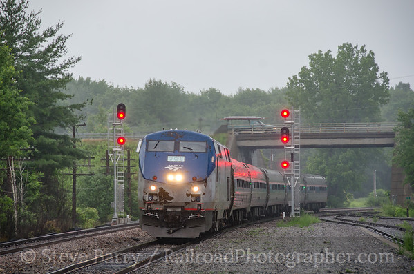 Photo 3427 Amtrak; Saratoga Springs, New York June 15, 2015