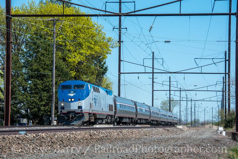 Photo 5528<br /> Amtrak<br /> Ronks, Pennsylvania<br /> April 16, 2019