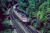 Photo 5465<br /> Amtrak<br /> Twin Ledges, Middlefield, Massachusetts<br /> August 1990