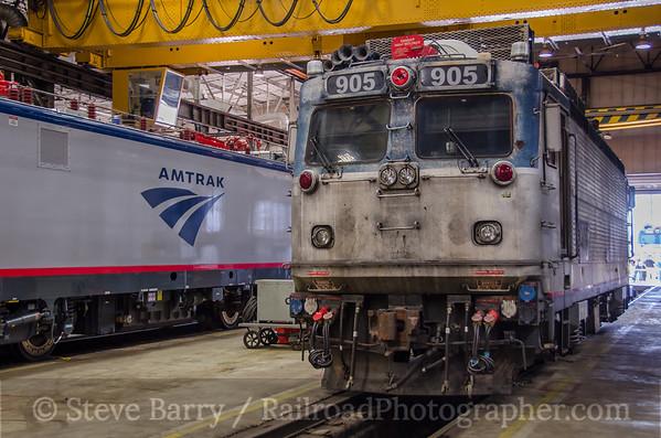Photo 3813 Amtrak; Wilmington Shop, Wilmington, Delaware June 18, 2016