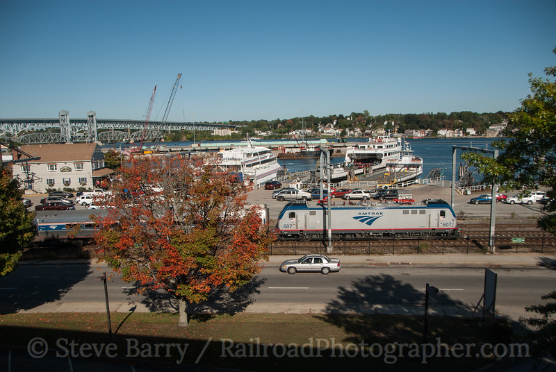 Photo 3222 Amtrak; New London, Connecticut October 5, 2014