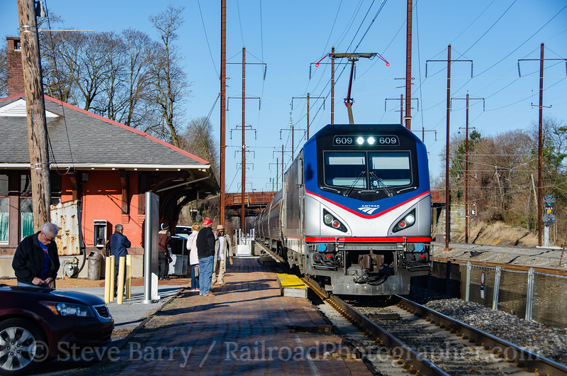 Photo 4059<br /> Amtrak; Parkesburg, Pennsylvania<br /> April 8, 2017