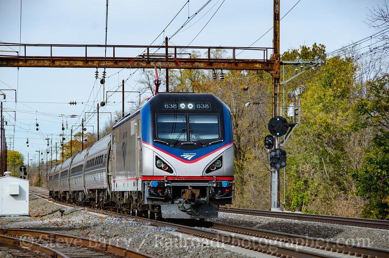Photo 3993<br /> Amtrak; Paradise, Pennsylvania<br /> November 6, 2016