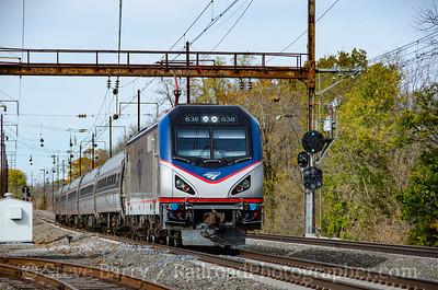 Photo 3993 Amtrak; Paradise, Pennsylvania November 6, 2016