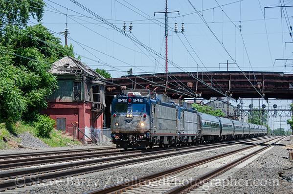 Photo 3812 Amtrak; Lamokin Tower, Chester, Pennsylvania June 18, 2016