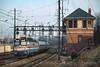 Photo 4163<br /> Amtrak; Arsenal Tower, Philadelphia, Pennsylvania<br /> Jnuary 2000