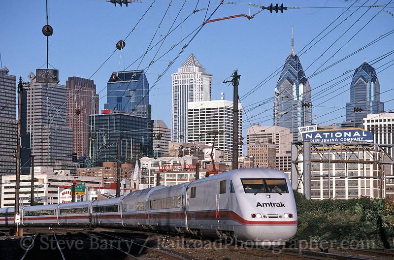 Photo 0798<br /> Amtrak; Philadelphia, Pennsylvania<br /> October 6, 1993
