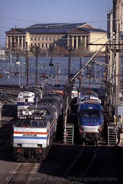 Photo 1191<br /> Amtrak; Race Street Engine Terminal, Philadelphia, Pennsylvania<br /> November 2000
