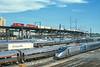 Photo 4166<br /> Canadian Pacific and Amtrak; Penn Coach Yard, Philadelphia, Pennsylvania<br /> August 2000
