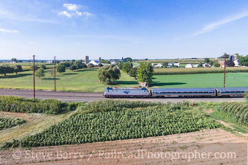 Photo 3921<br /> Amtrak; Ronks, Pennsylvania<br /> August 23, 2016