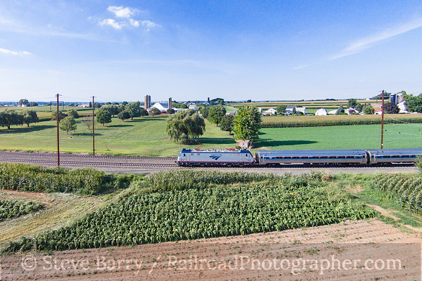 Photo 3921 Amtrak; Ronks, Pennsylvania August 23, 2016