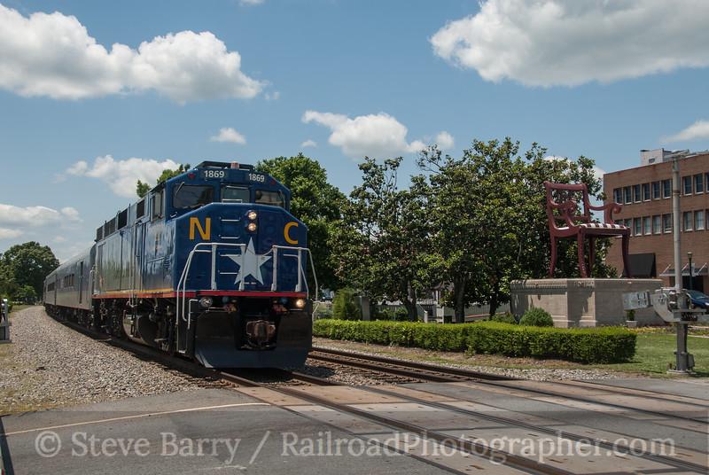 Photo 3162<br /> Amtrak; Thomasville, North Carolina<br /> June 1, 2014