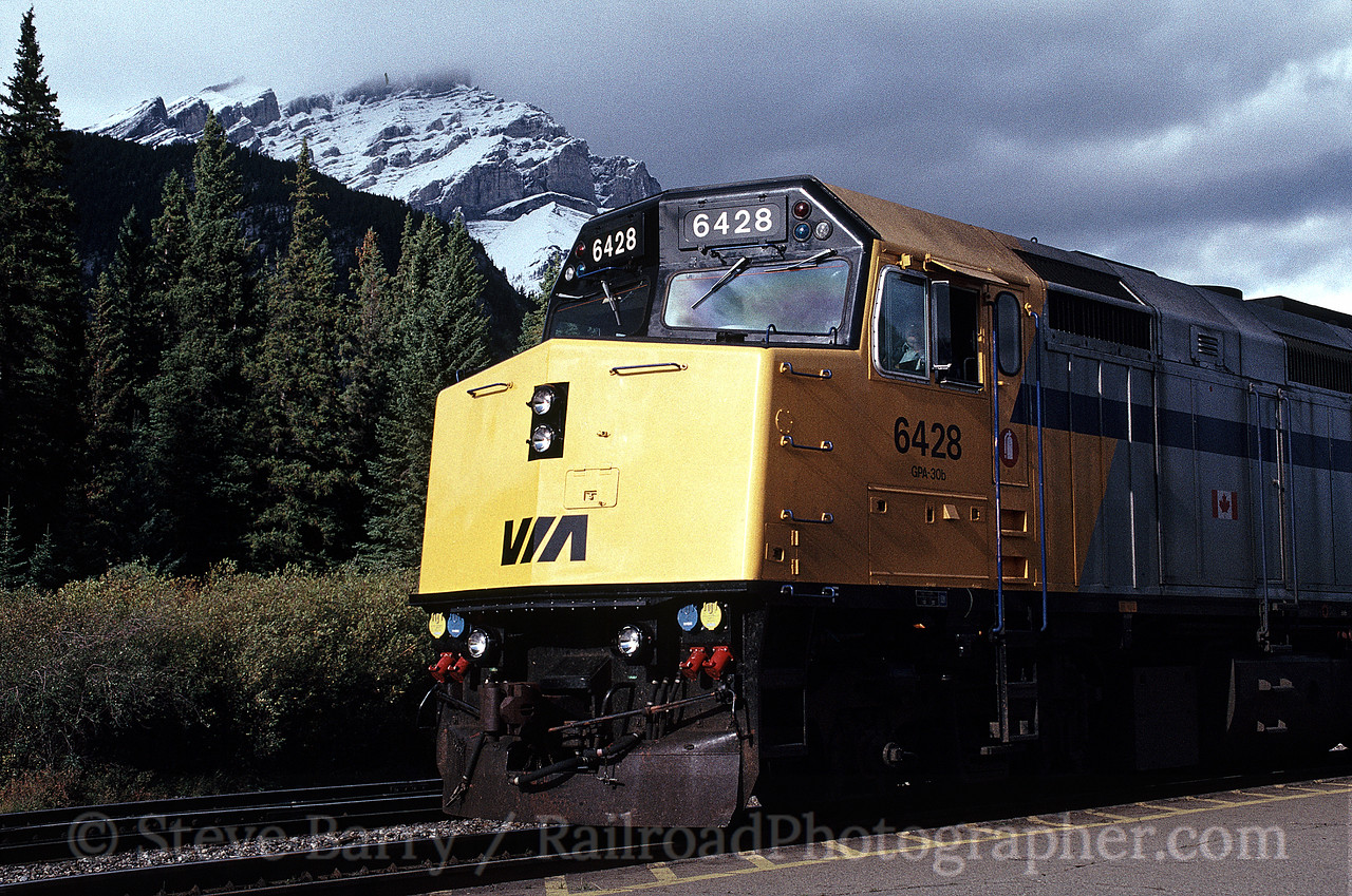 Photo 0567<br /> VIA Rail Canada; Banff, Alberta<br /> September 1988