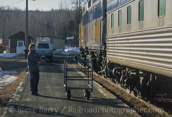 Photo 3788 VIA Rail Canada; New Richmond, Quebec April 2001