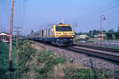 Photo 4992<br /> VIA Rail Canada<br /> Pointe-Claire, Quebec<br /> September 1987