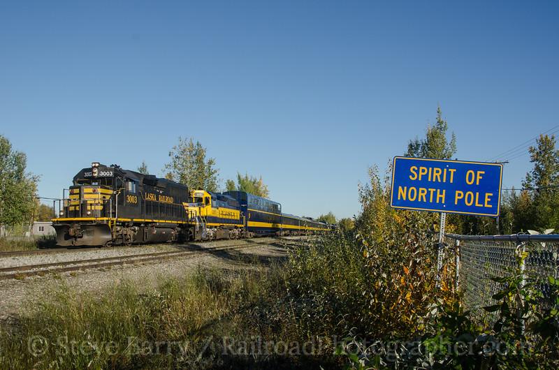 Photo 2789<br /> Alaska Railroad; North Pole, Alaska<br /> September 15, 2013