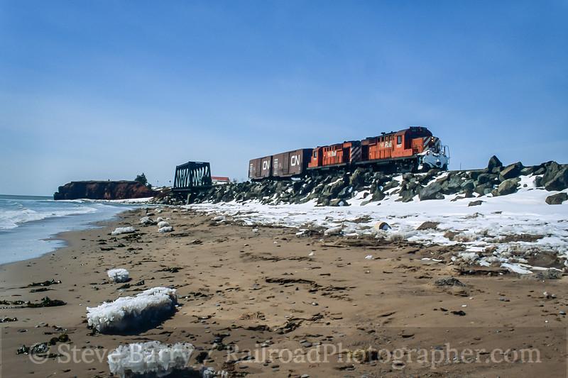 Gaspé Railway; Petit-Pabos QC; 4/2001