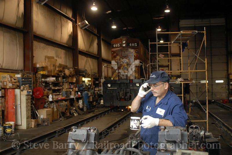 Photo 0782<br /> Don Colangelo (The Alco Doctor)<br /> Delaware Lackawanna; South Scranton, Pennsylvania<br /> September 14, 2006
