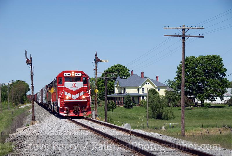 Photo 1378<br /> Indiana Rail Road; Hitchcock, Indiana<br /> May 18, 2009