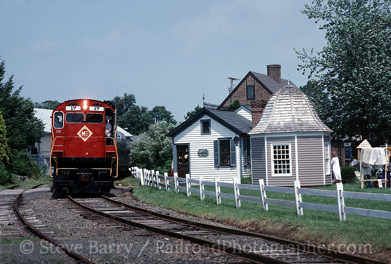 Photo 0304<br /> Morristown & Erie (on BR&W); Flemington, New Jersey<br /> June 1989