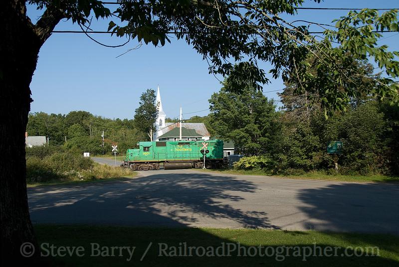 Photo 1602<br /> New Brunswick Southern; Moore's Mills, New Brunswick<br /> September 8, 2009